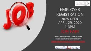 Flyer for April 2020 Job Fair