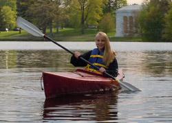 Rent a kayak at Roger Williams Park