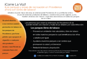 Tobacco Free Park Spanish