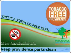 Tobaccco Free PVD Parks