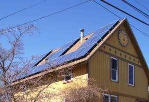 Close up of Solar Panels on a home