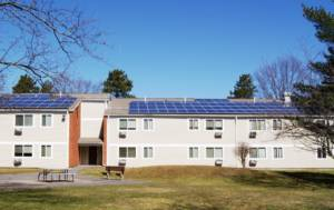 solar panels on shared housing