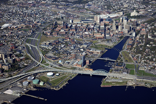 Arial Photo of Providence RI