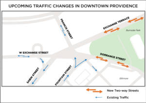 Traffic changes in downtown Providence