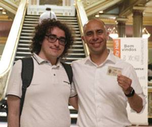Mayor Elorza with an ID