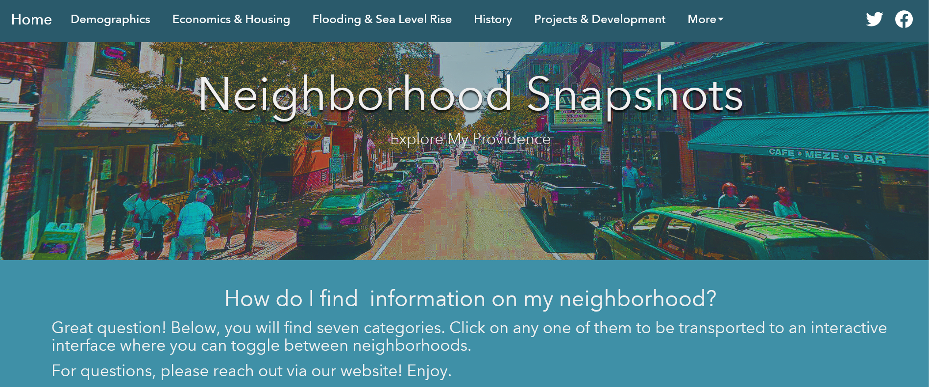 Neighborhood Snapshots Platform Now Live